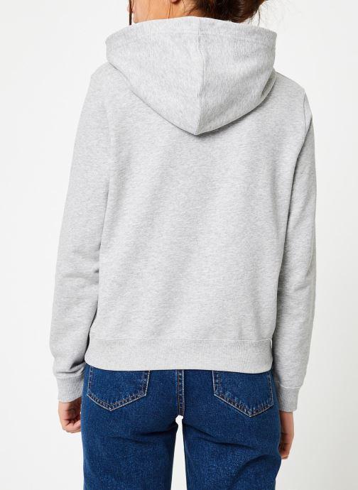 Vêtements Calvin Klein Jeans Core Monogram Logo Sweatshirt Noir vue portées chaussures