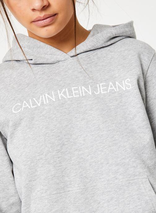 Vêtements Calvin Klein Jeans Core Monogram Logo Sweatshirt Noir vue face