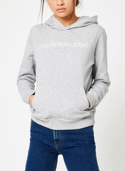 Vêtements Calvin Klein Jeans Core Monogram Logo Sweatshirt Noir vue droite