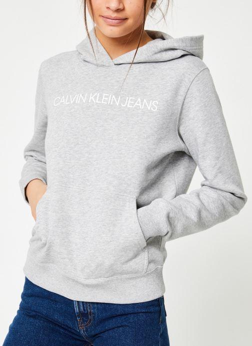 Vêtements Calvin Klein Jeans Core Monogram Logo Sweatshirt Noir vue détail/paire
