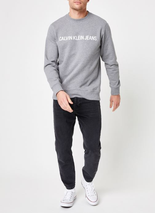 Kleding Calvin Klein Jeans Core Institutional Logo Sweatshirt Grijs onder