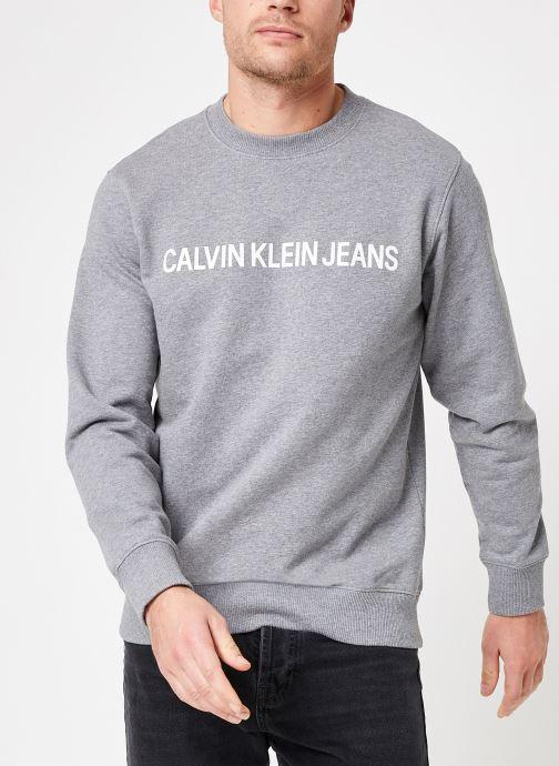 Kleding Calvin Klein Jeans Core Institutional Logo Sweatshirt Grijs rechts
