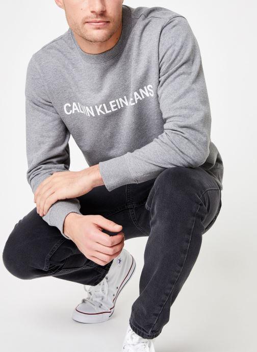 Kleding Calvin Klein Jeans Core Institutional Logo Sweatshirt Grijs detail