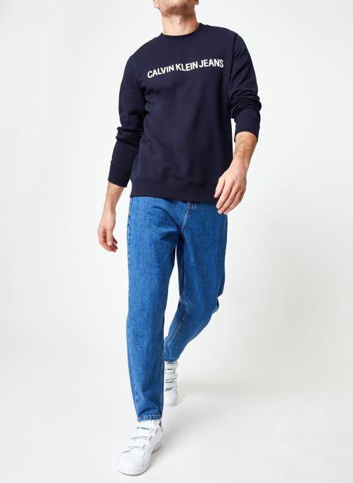 Vêtements Calvin Klein Jeans Core Institutional Logo Sweatshirt Bleu vue bas / vue portée sac