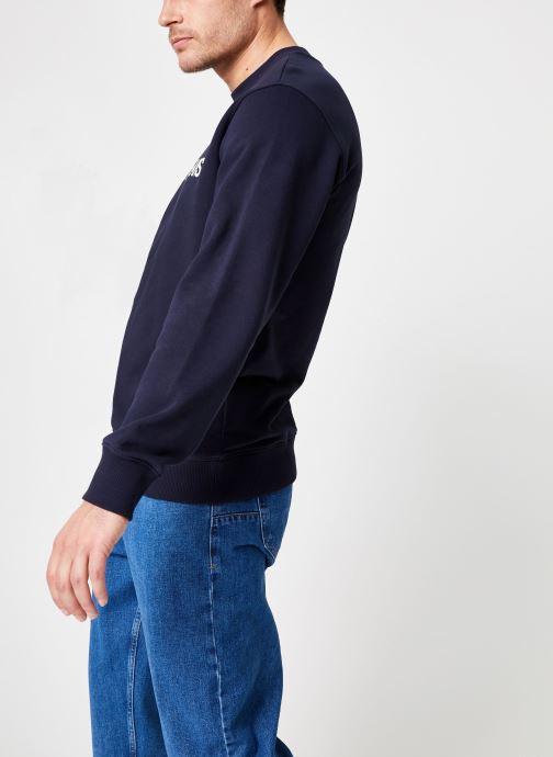 Vêtements Calvin Klein Jeans Core Institutional Logo Sweatshirt Bleu vue droite