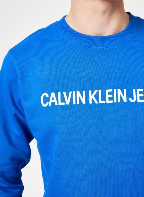 Vêtements Calvin Klein Jeans INSTITUTIONAL LOGO REG CREW NECK Bleu vue face