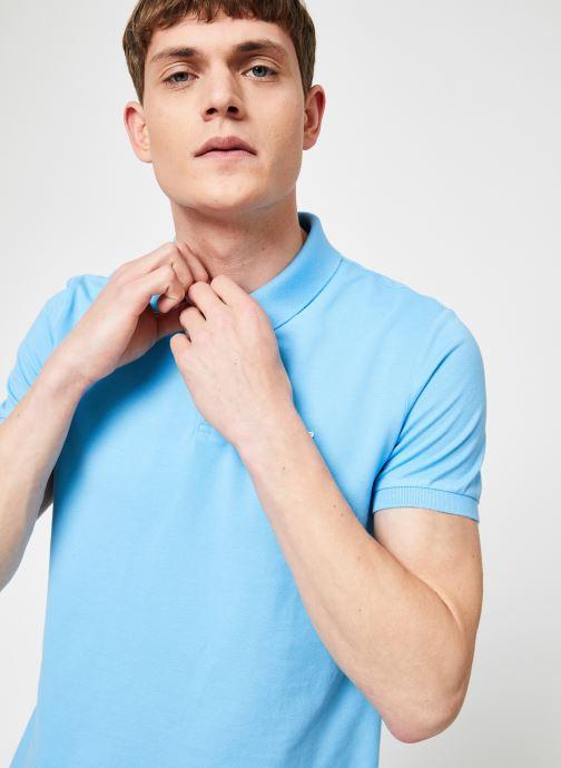 Vêtements Calvin Klein Jeans CKJ LOGO PIQUE SLIM POLO Bleu vue détail/paire