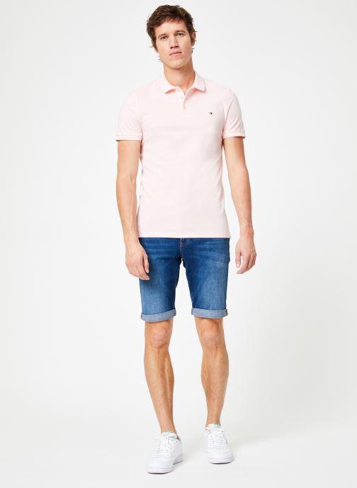 Calvin Klein Jeans CKJ LOGO PIQUE SLIM POLO (rosa