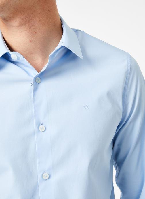 Vêtements Calvin Klein Jeans CKJ SLIM STRETCH SHIRT Bleu vue face