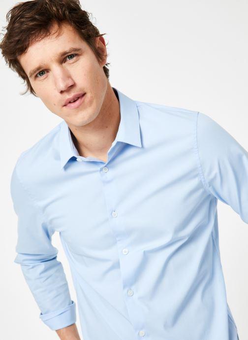 Vêtements Calvin Klein Jeans CKJ SLIM STRETCH SHIRT Bleu vue détail/paire