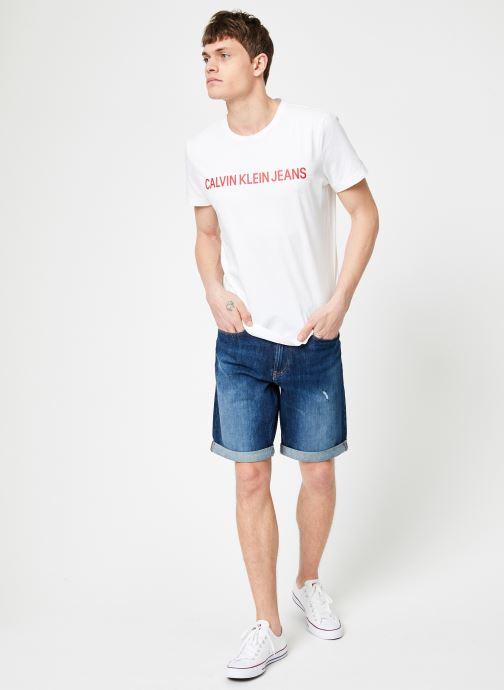 Vêtements Calvin Klein Jeans SLIM SHORT Bleu vue bas / vue portée sac