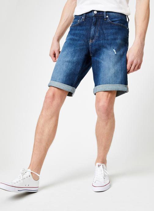 Vêtements Calvin Klein Jeans SLIM SHORT Bleu vue détail/paire