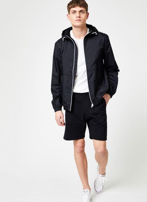Vêtements Calvin Klein Jeans NYLON HOODED ZIP UP JACKET Noir vue bas / vue portée sac
