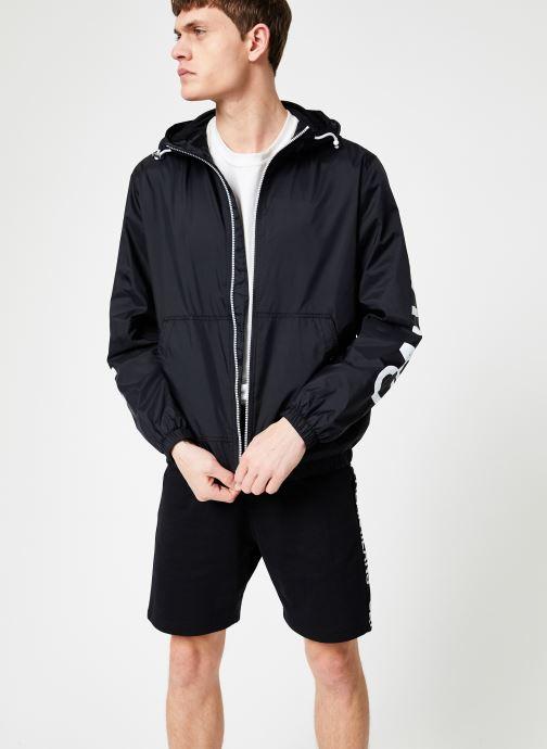 Vêtements Calvin Klein Jeans NYLON HOODED ZIP UP JACKET Noir vue droite