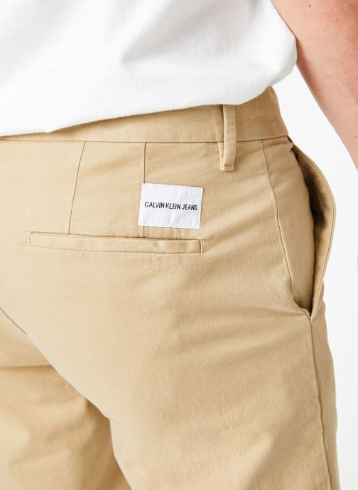 Vêtements Calvin Klein Jeans CKJ 026 SLIM CHINO SHORT Beige vue face
