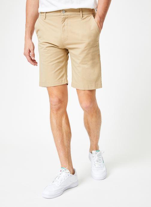 Vêtements Calvin Klein Jeans CKJ 026 SLIM CHINO SHORT Beige vue détail/paire