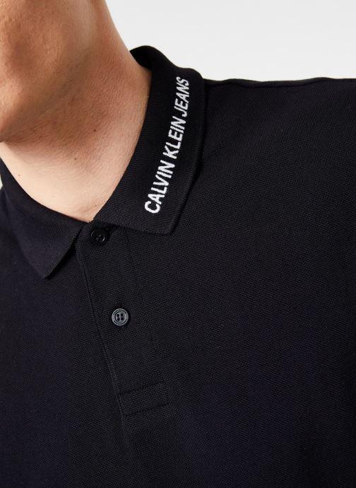 Vêtements Calvin Klein Jeans INST COLLAR EMBROIDERY Noir vue face