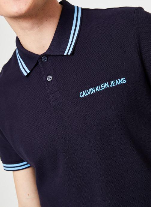 Vêtements Calvin Klein Jeans SLIM TIPPING POLO --14 Bleu vue face