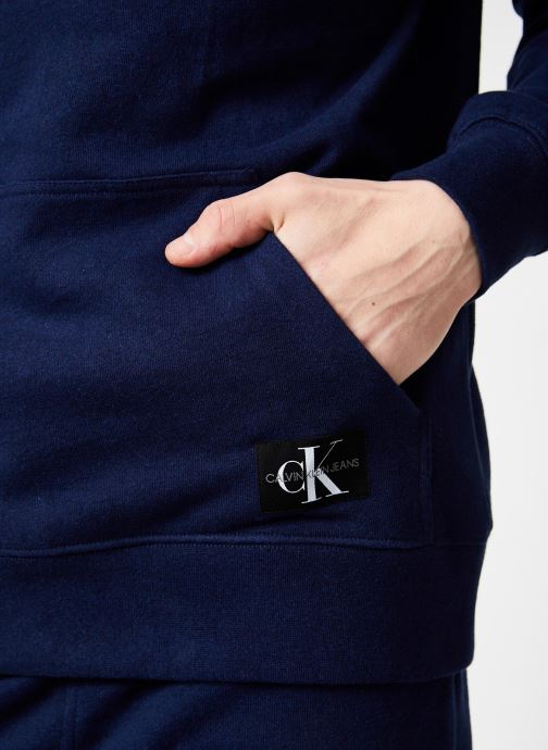Vêtements Calvin Klein Jeans INDIGO HOODIE Bleu vue face
