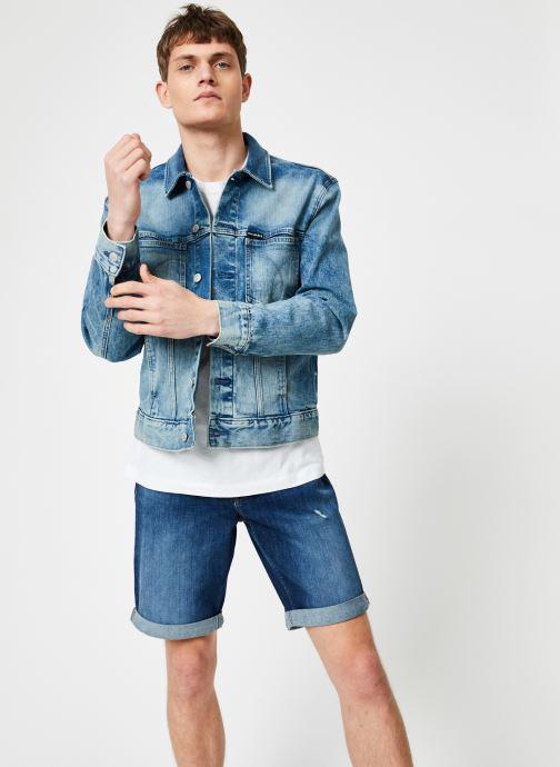 Vêtements Calvin Klein Jeans MODERN CLASSIC TRUCKER OMEGA Bleu vue droite