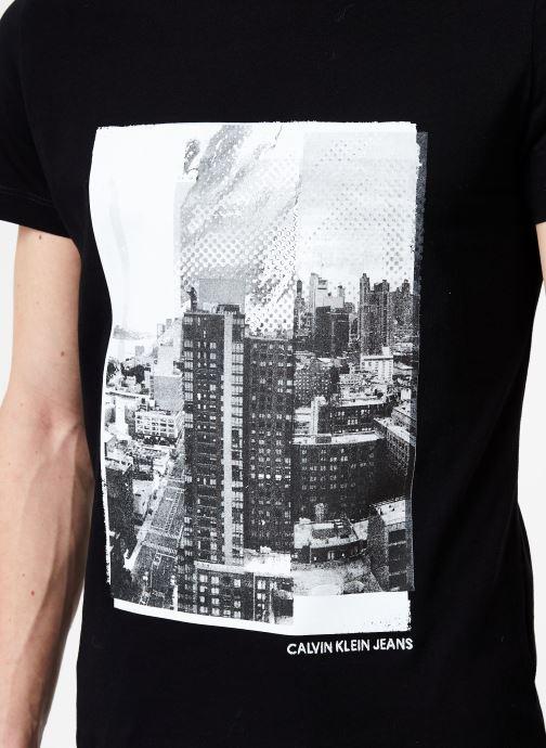 Vêtements Calvin Klein Jeans LANDSCAPE GRAPHIC SLIM SS TEE Noir vue face