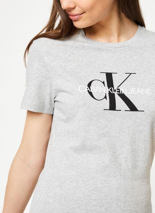 Vêtements Calvin Klein Jeans Core Monogram Logo Regular Fit Tee Gris vue face