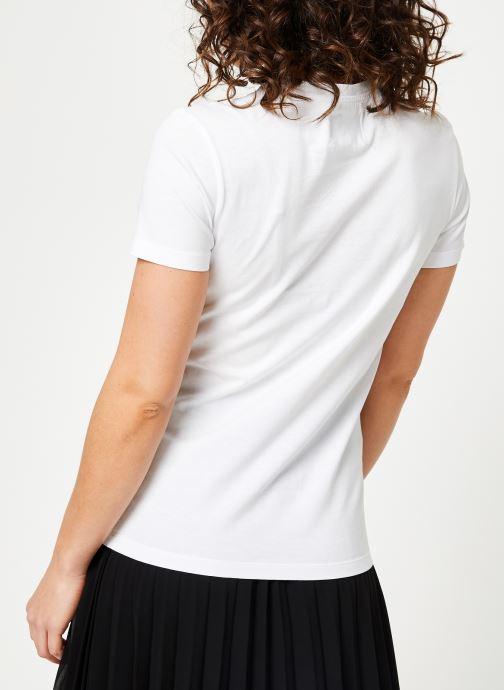 Vêtements Calvin Klein Jeans Core Monogram Logo Regular Fit Tee Blanc vue portées chaussures