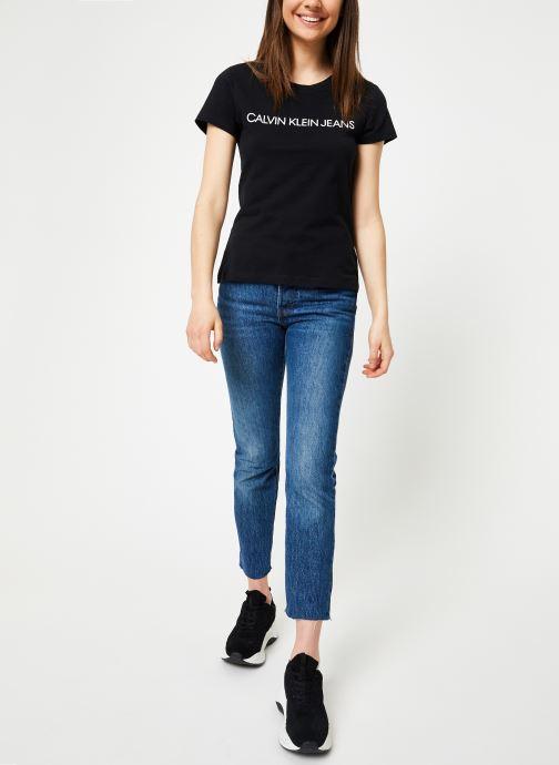 Kleding Calvin Klein Jeans Core Institutional Logo Slim Fit Tee Zwart onder