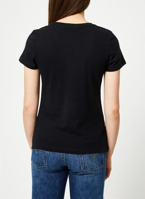 Kleding Calvin Klein Jeans Core Institutional Logo Slim Fit Tee Zwart model