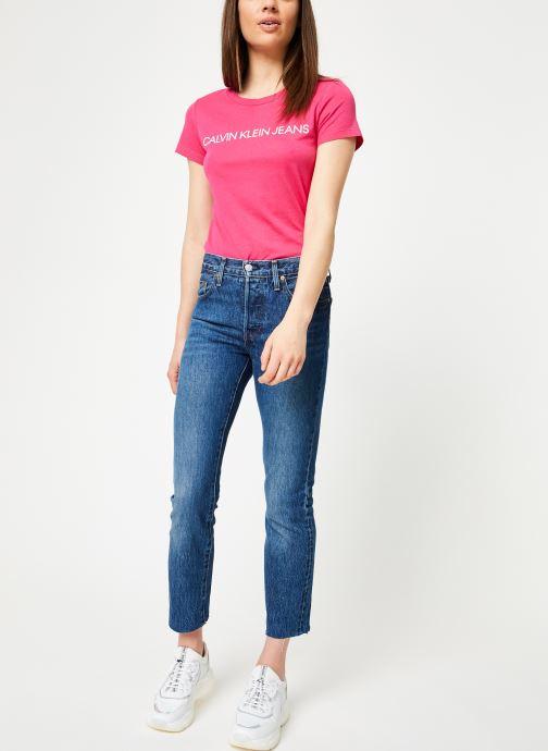 Kleding Calvin Klein Jeans Institutional Logo Slim Fit Tee Roze onder