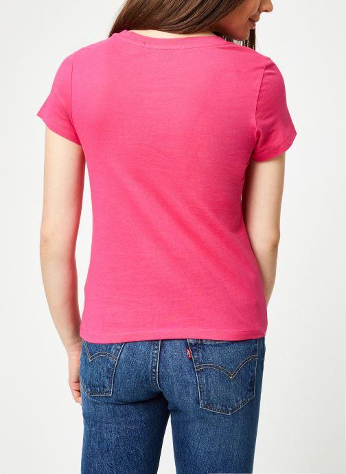 Kleding Calvin Klein Jeans Institutional Logo Slim Fit Tee Roze model