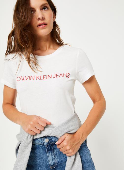 Vêtements Calvin Klein Jeans Institutional Logo Slim Fit Tee Blanc vue détail/paire
