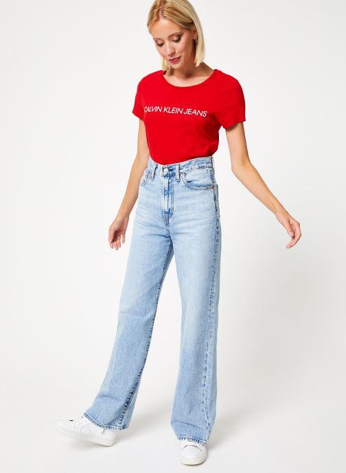 Kleding Calvin Klein Jeans Institutional Logo Slim Fit Tee Rood onder