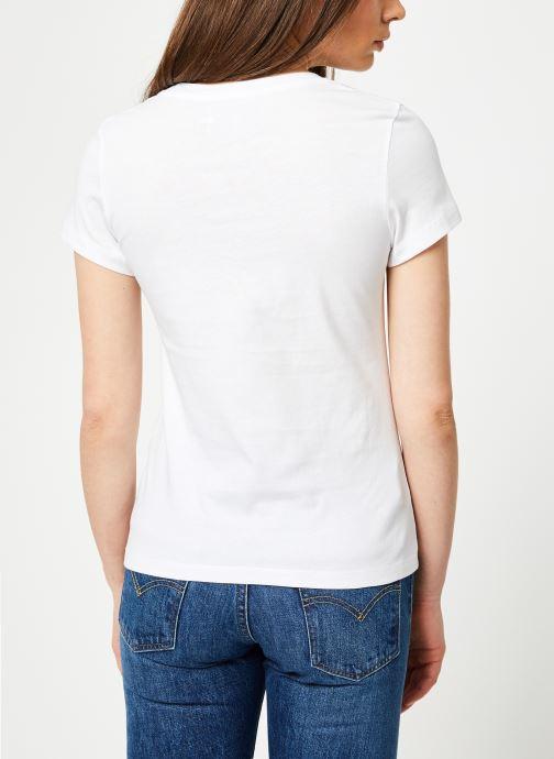 Vêtements Calvin Klein Jeans Outline Monogram Slim Fit Blanc vue portées chaussures