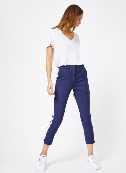 Vêtements Calvin Klein Jeans Side Stripe Twill Pant Bleu vue bas / vue portée sac