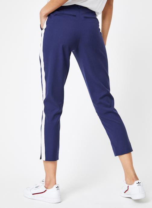Vêtements Calvin Klein Jeans Side Stripe Twill Pant Bleu vue portées chaussures