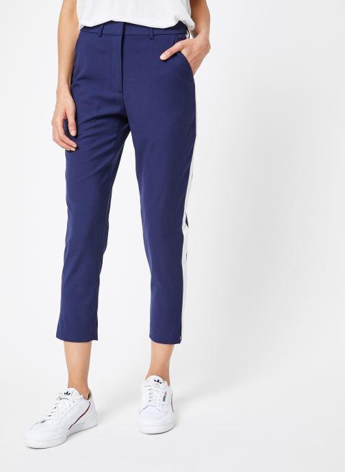 Vêtements Calvin Klein Jeans Side Stripe Twill Pant Bleu vue détail/paire