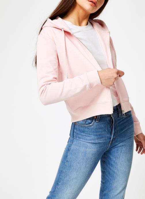 Kleding Calvin Klein Jeans Boxy Zip Up Monogram Badge Roze rechts