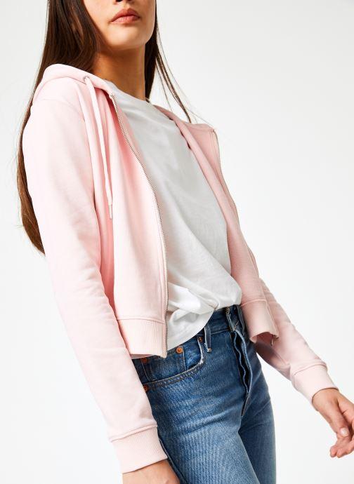 Kleding Calvin Klein Jeans Boxy Zip Up Monogram Badge Roze detail