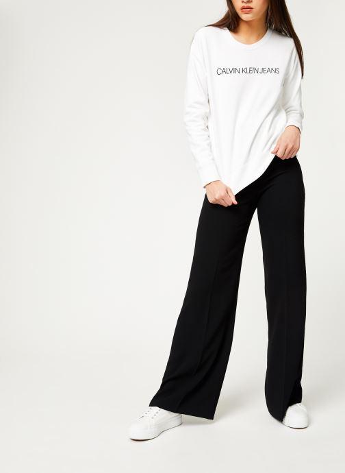 Kleding Calvin Klein Jeans Institutional Regular Crew Neck Wit onder