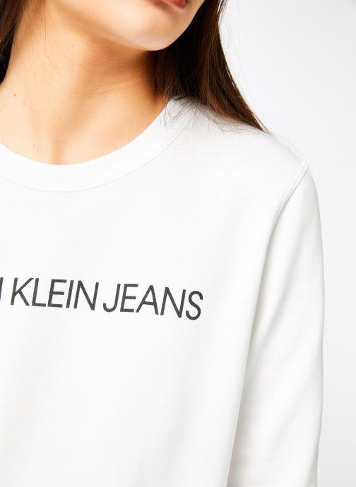Kleding Calvin Klein Jeans Institutional Regular Crew Neck Wit voorkant