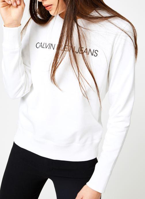 Kleding Calvin Klein Jeans Institutional Regular Crew Neck Wit detail