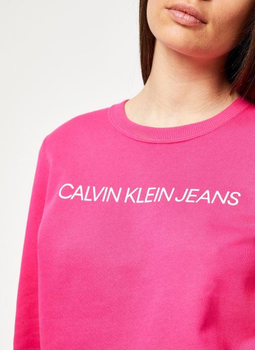 Kleding Calvin Klein Jeans Institutional Regular Crew Neck Roze voorkant
