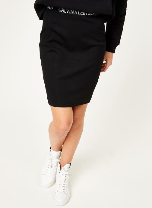 Kleding Calvin Klein Jeans Milano Pencil Skirt Zwart detail