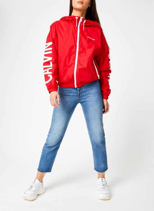 Vêtements Calvin Klein Jeans Nylon Windbreaker Rouge vue bas / vue portée sac