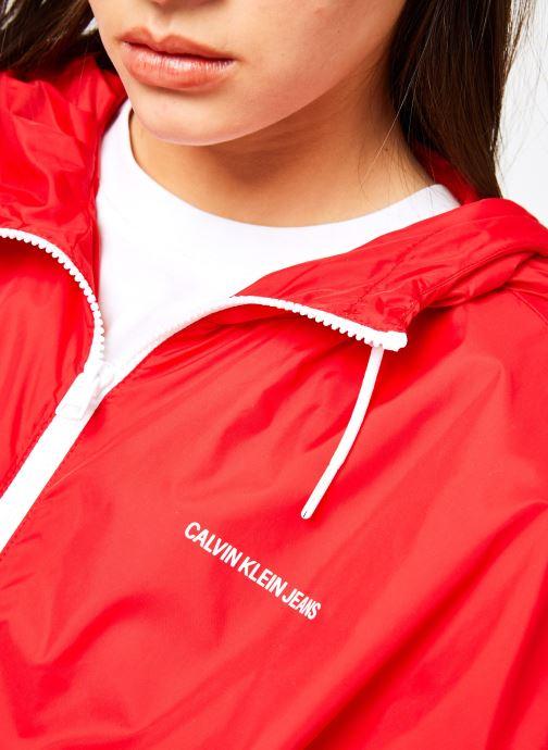 Vêtements Calvin Klein Jeans Nylon Windbreaker Rouge vue face