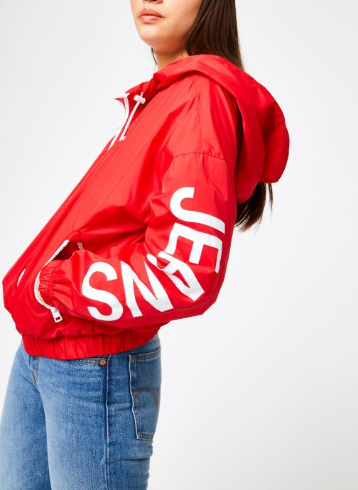 Vêtements Calvin Klein Jeans Nylon Windbreaker Rouge vue détail/paire