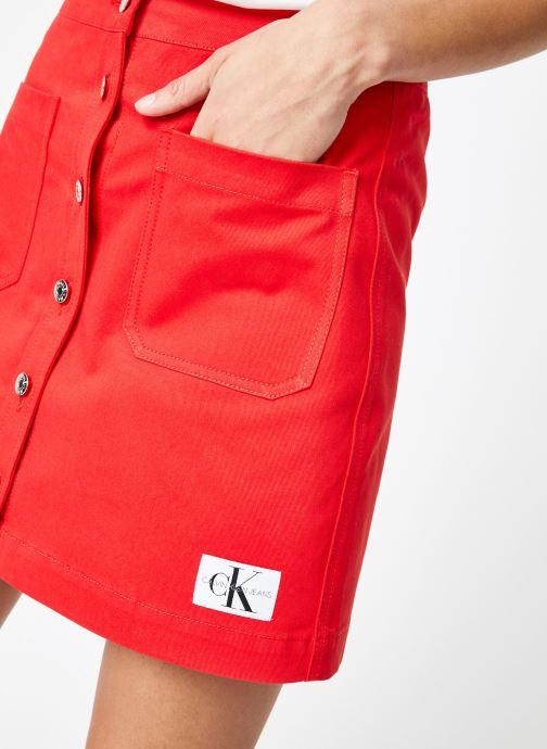 Vêtements Calvin Klein Jeans Cotton Twill Mini Skirt Rouge vue face