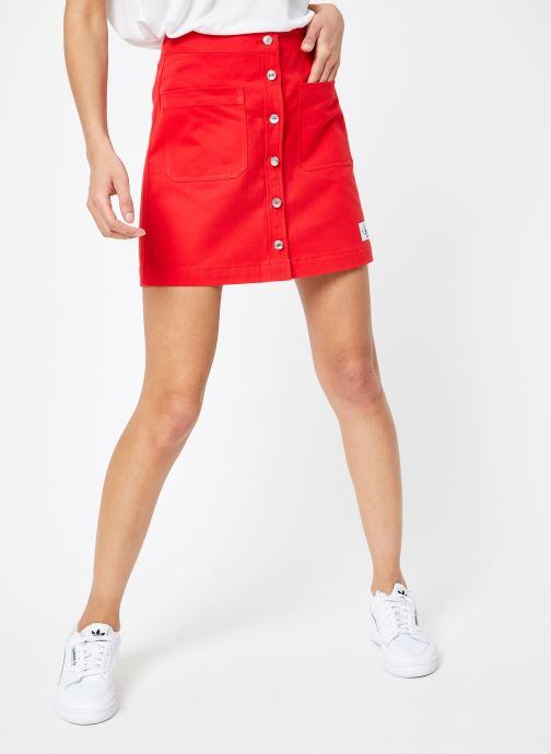 Vêtements Calvin Klein Jeans Cotton Twill Mini Skirt Rouge vue détail/paire