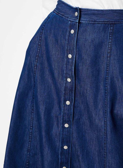 Vêtements Calvin Klein Jeans Midi Skirt Indigo Tencel Bleu vue face